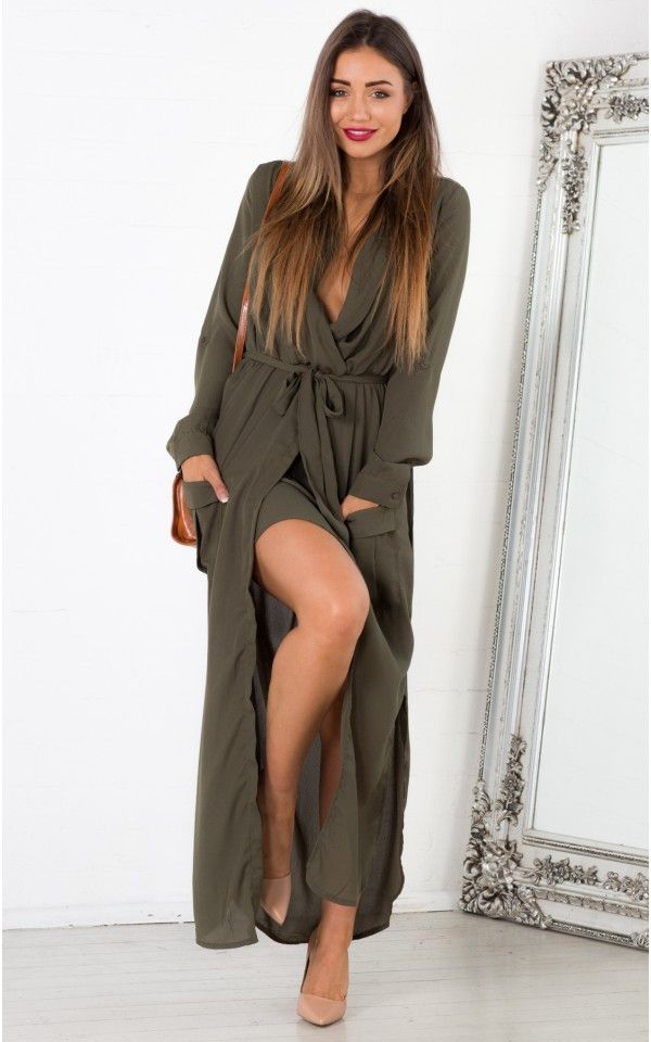 Keep Count maxi dress in khaki  SHOWPO Fashion Online Shopping ...