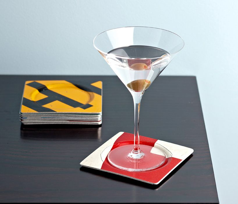 Bally Humanufactured D.O.T. coasters-from upcycled aluminum roadsigns