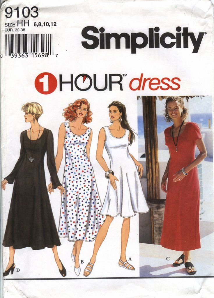 Simplicity 9103 Misses\'/Miss Petite Dress with Sleeve and Length ...