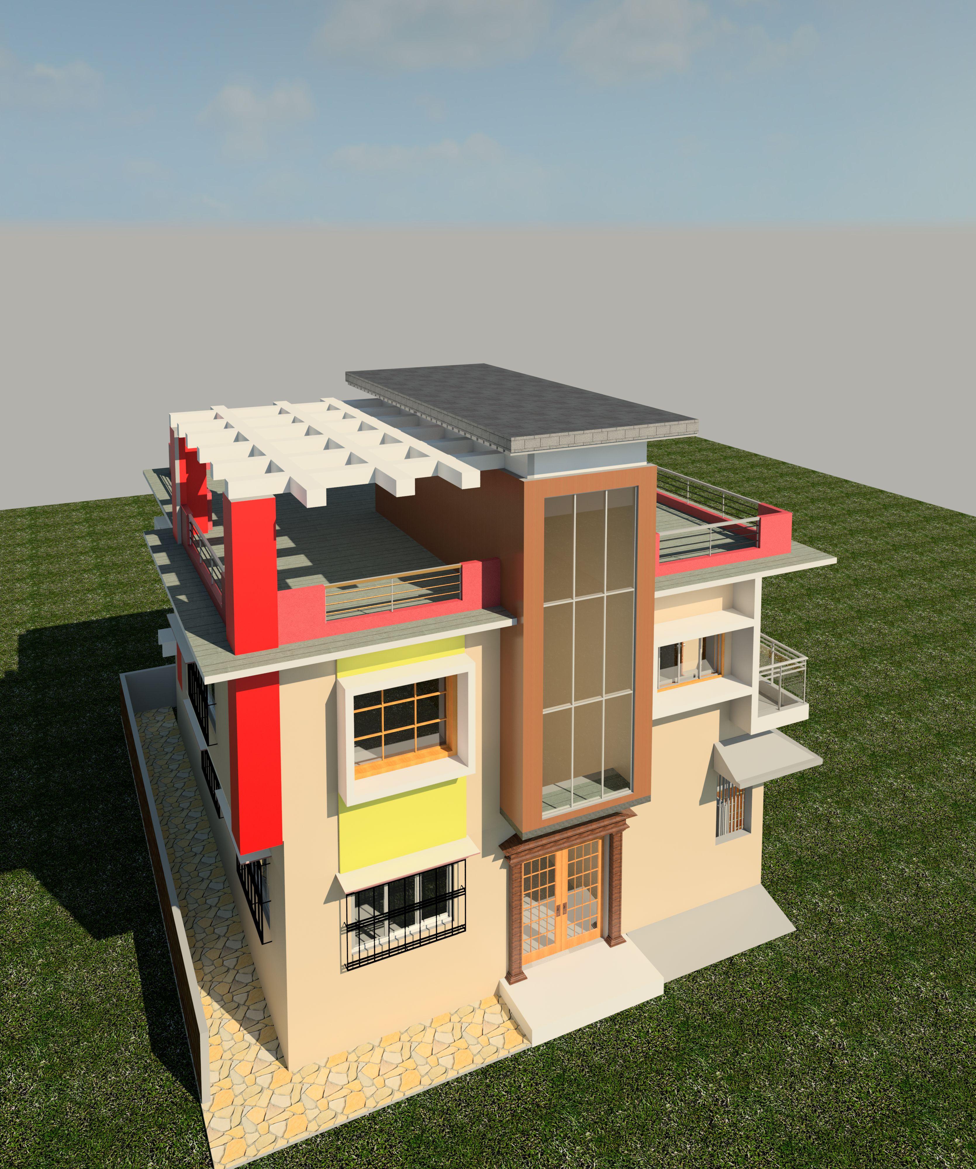 House design revit - Indian House House Design
