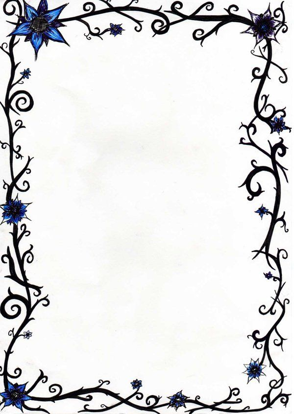 Border by sezratron   Borders for paper, Book of shadows ...