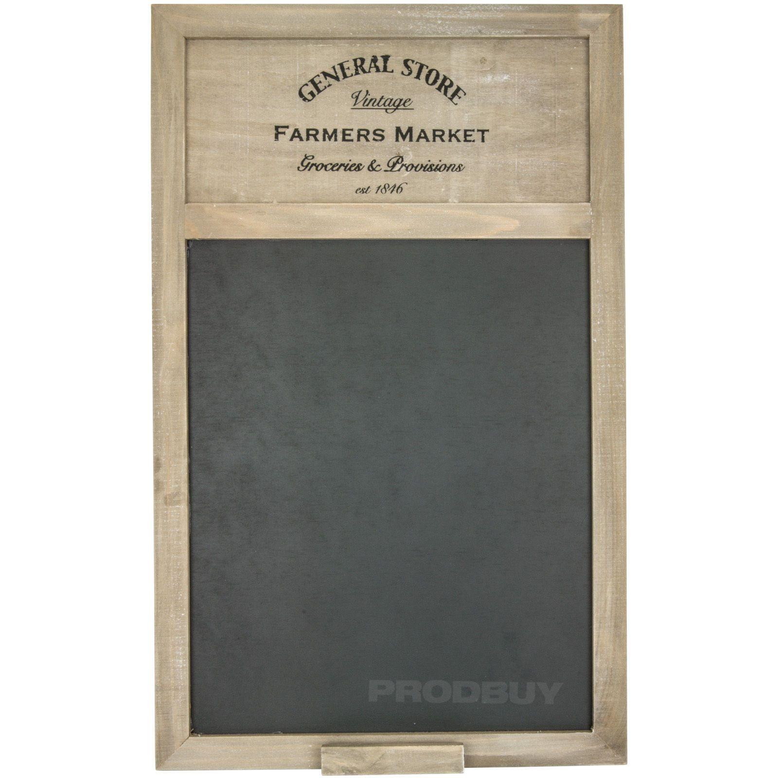 General Store Farmers Market Chalk Memo Notice Black Board Shabby