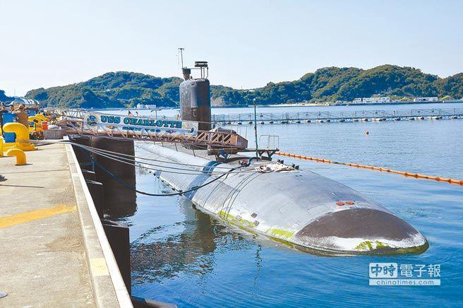 美軍洛杉磯級快速攻擊潛艦夏洛特號(SSN776)。    (取自美國海軍官網)