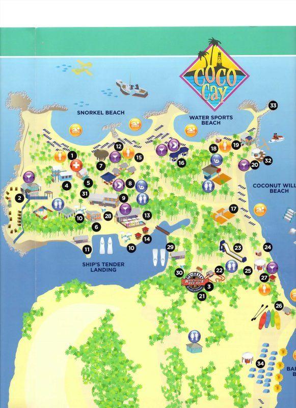 cococay bahamas snorkeling map Pesquisa do Google