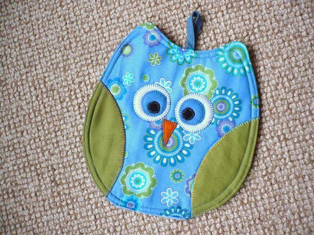 Eulentopflappen - Anleitung/ Owl potholders-pattern - Regina H ...