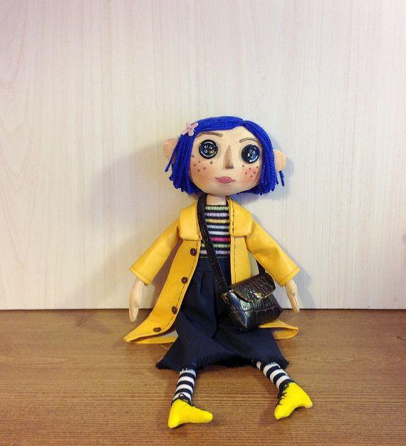 Coralline Movie Doll Button Eyes Doll Textile By Natashaartdolls Coraline Doll Art Dolls Textile Art Dolls