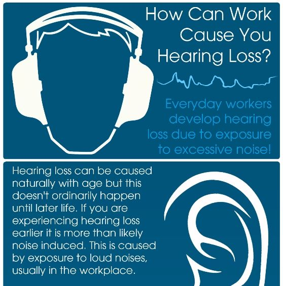 Could Your Job Be Causing You Hearing Loss Hearing Loss Infographic Health Hearing Health