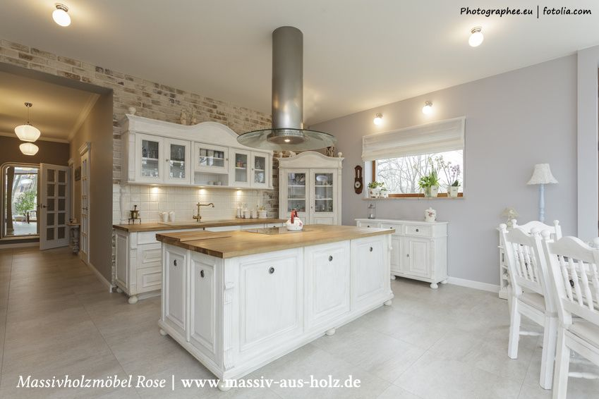 Einrichtungsideen landhausstil modern  Shabby #Chic and #Charme #Norvegian #Home #Kitchen #white ...