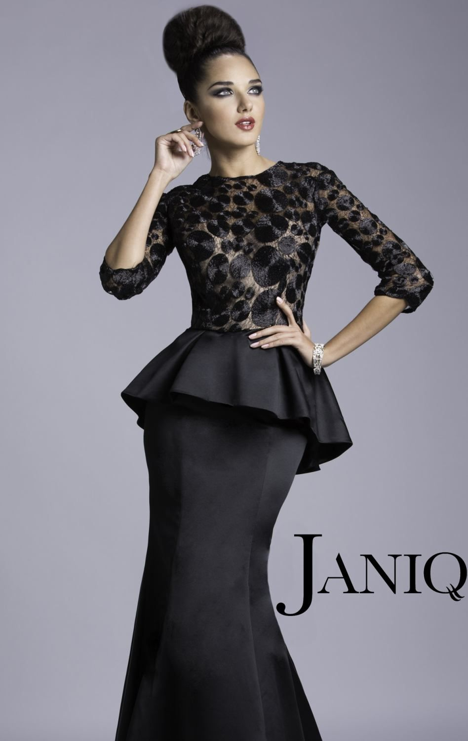 Peplum evening gown by janique red carpet pinterest gowns