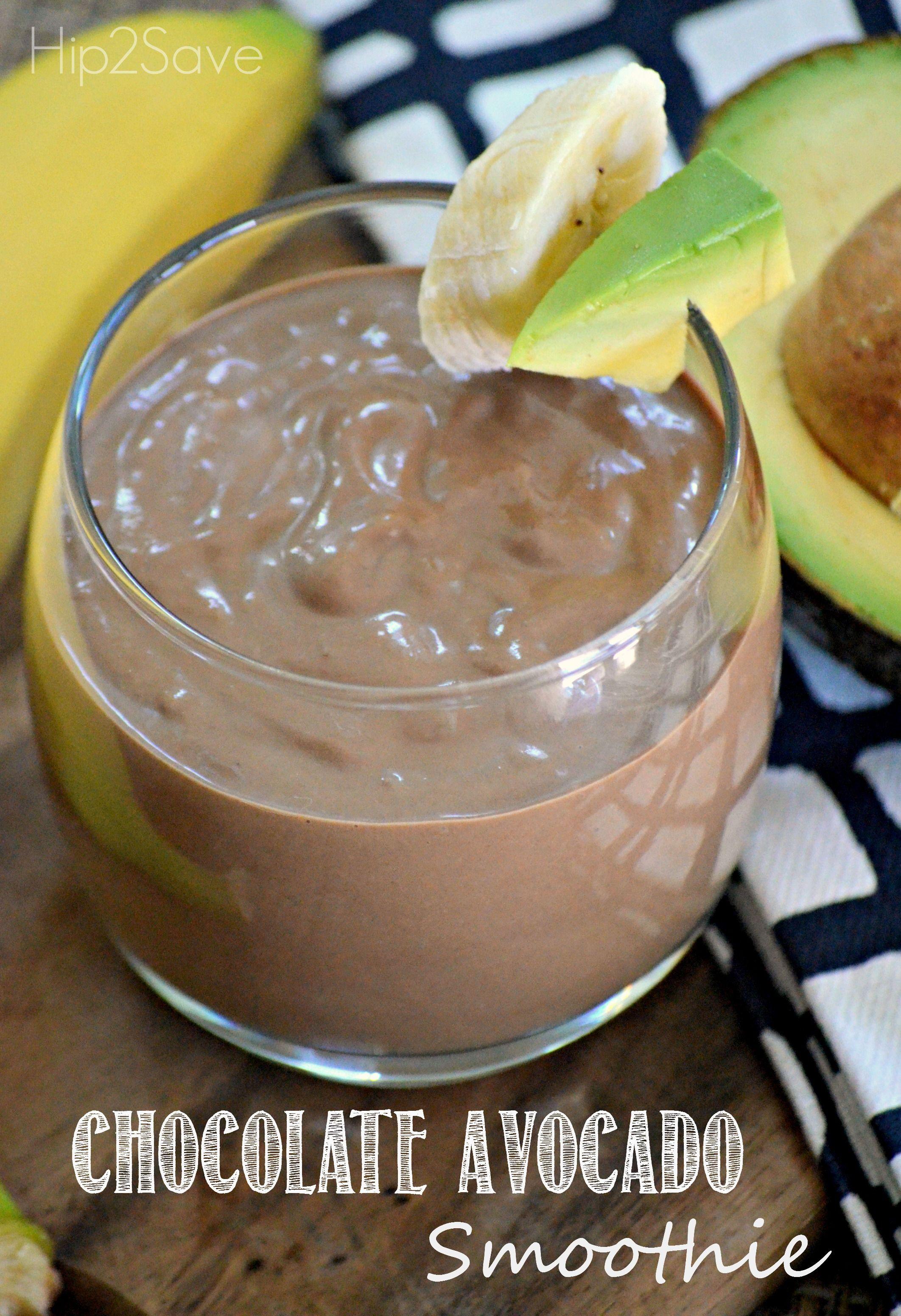 Chocolate Avocado Smoothie Recipe By Hip2save Com Avocado