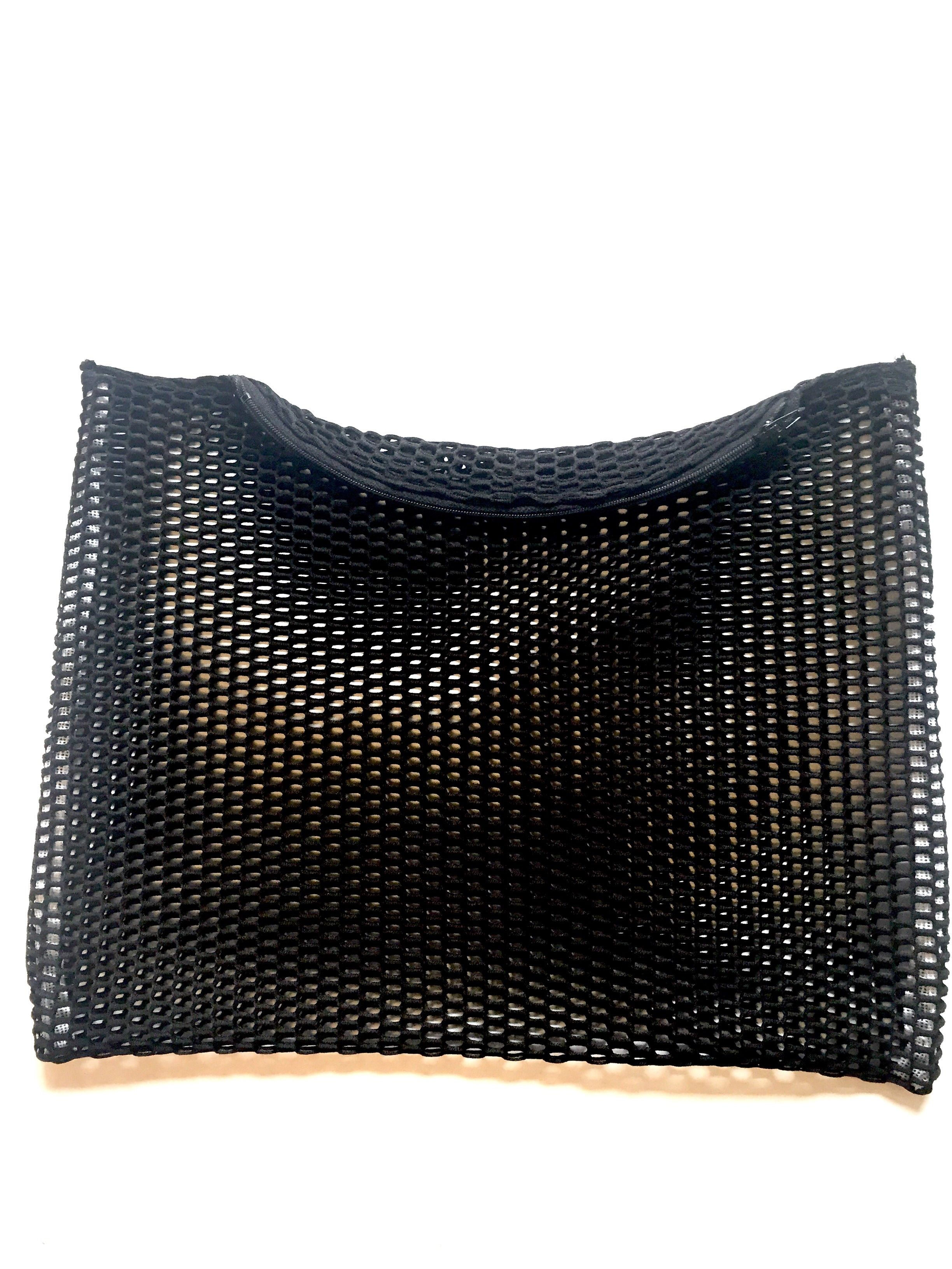 No secrets black mesh zip top clutch · Le Gendre · Online Store Powered by Storenvy