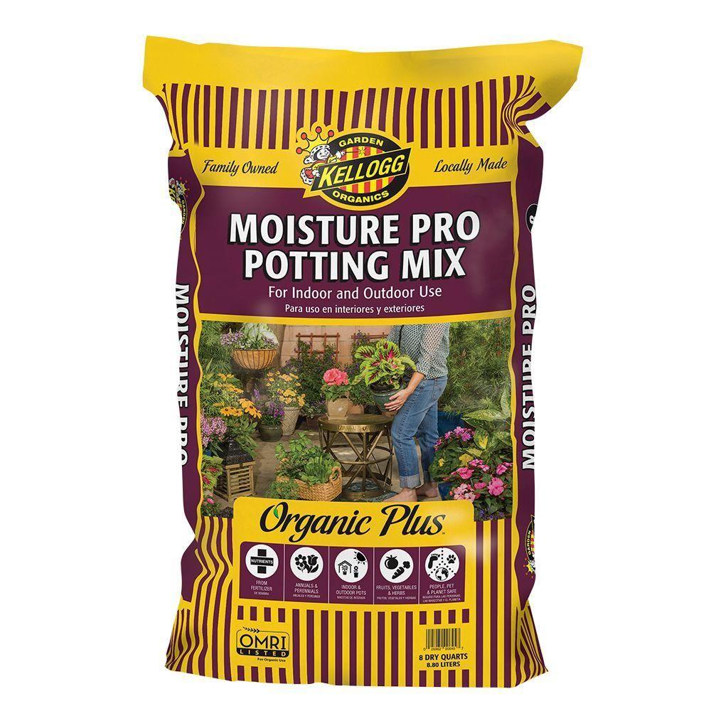 Kellogg Garden Organics 8 Qt. Moisture Pro Potting Mix for