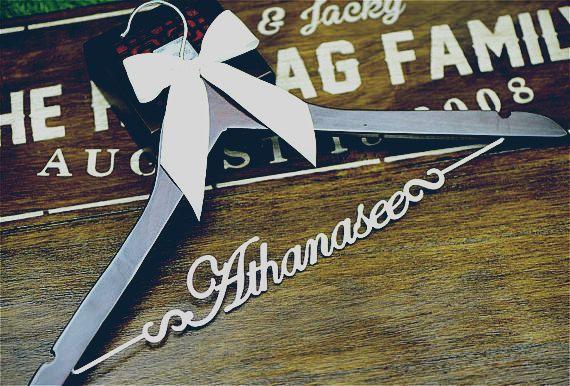 Personalised Wooden Hanger Bespoke Hanger Thoughtful Wedding Gifts