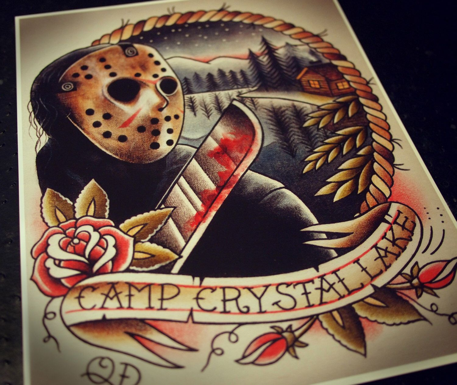 Jason Voorhees Tattoo Art Print Horror Movie Tattoos Horror Tattoo Movie Tattoos