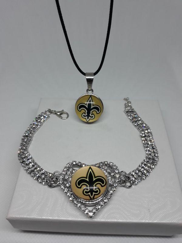 New Orleans Saints Jewerly : orleans, saints, jewerly, Orleans, Saints, Bracelet, Necklace, Saints,, Gear,