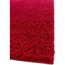 Photo of benuta Essentials Hochflor Shaggyteppich Swirls Dunkelrot 300×400 cm – Langflor Teppich für Wohnzimm