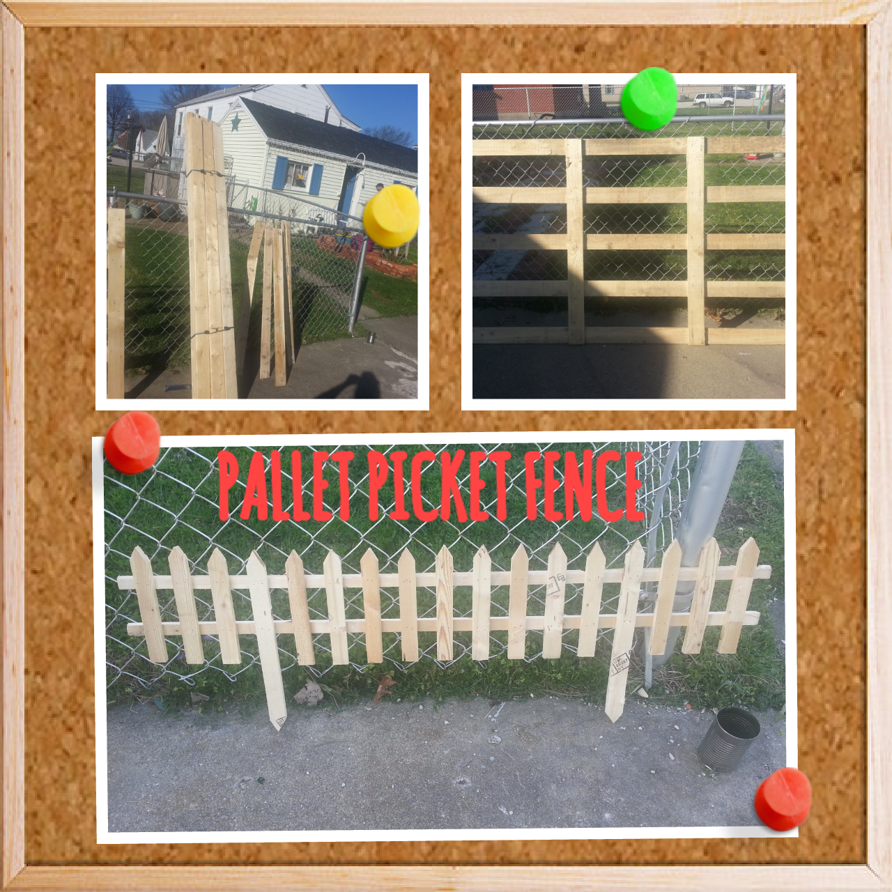 Pallet picket garden fence pallets gardens and fences
