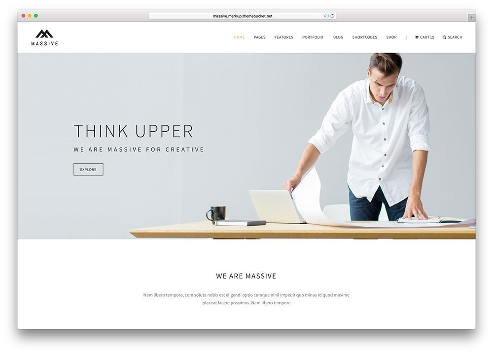 massivecreativeonepagehtmlwebsitetemplate Web Pinterest