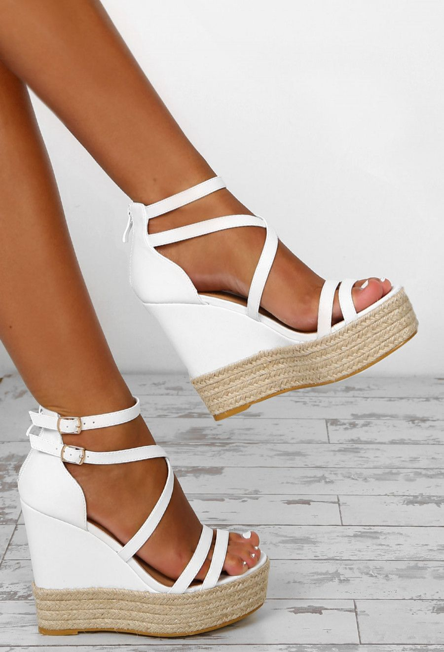 778e8f67e Sundance White Platform Wedges - UK 4 | Shoes ♡ | Cute wedges shoes ...