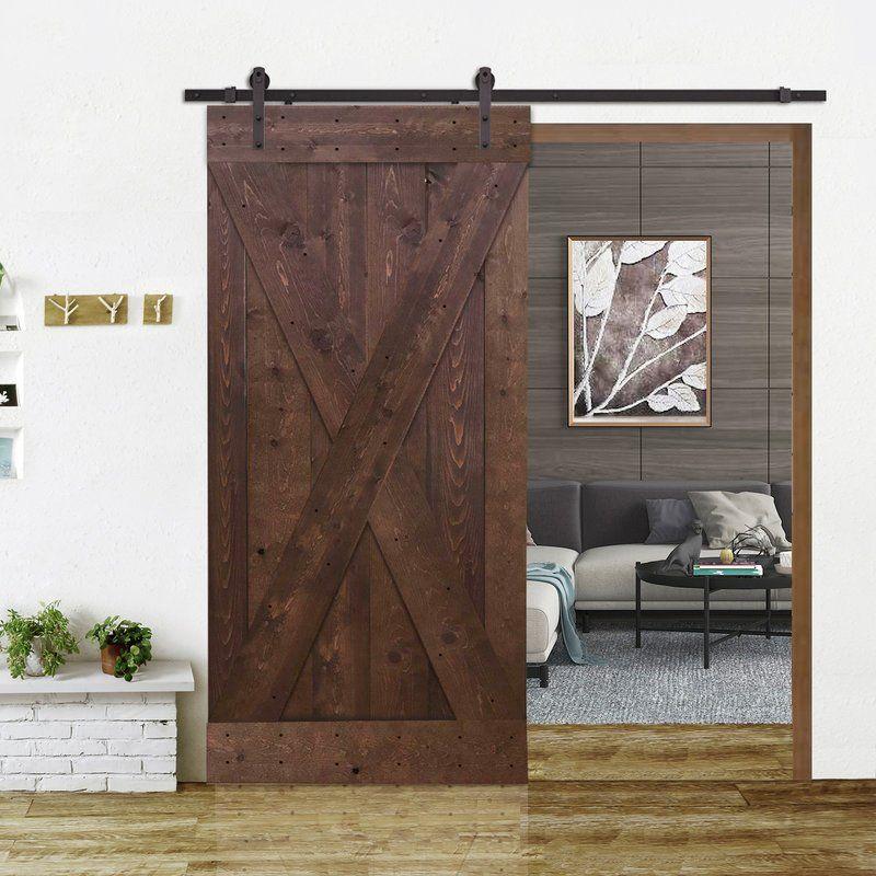 Paneled Wood X Panel Barn Door With Installation Hardware Kit Barn Style Sliding Doors Interior Barn Doors Barn Door