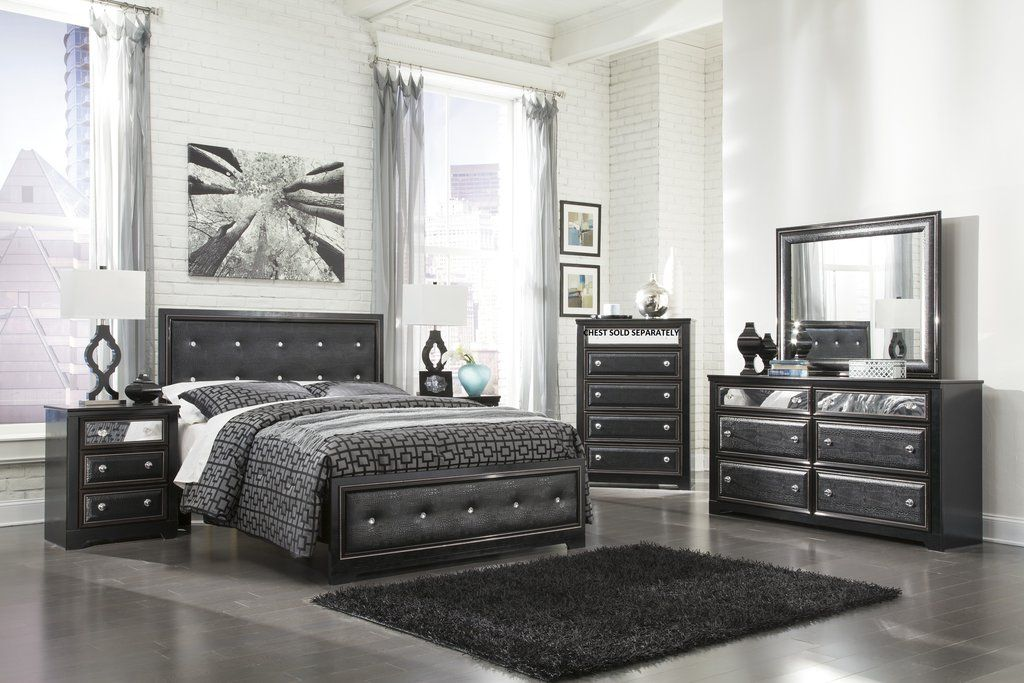 Alamadyra Contemporary Black Bedroom Set with Queen Size
