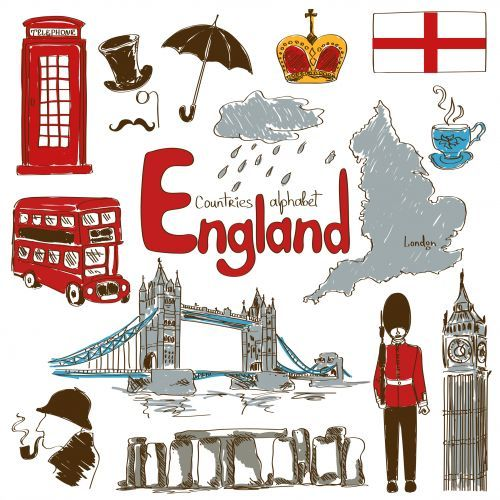 Kids Map Of England.England Culture Map Printable Unit Europe Geography For Kids