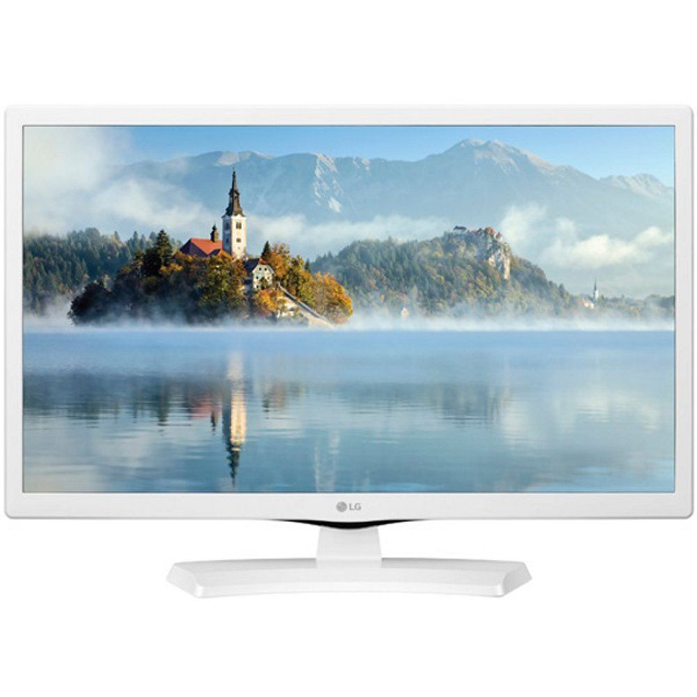 LG 24 HD LED TV White 2017 Model 24LJ4540WU with Sylvania HDMI HD ...