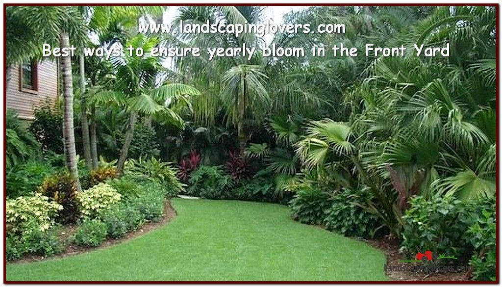 Easy Tweaks To Improve Your Landscaping Landscaping Lovers Florida Landscaping Backyard Landscaping Designs Tropical Landscaping