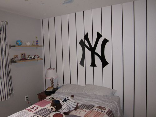 Yankee Room For My Son Yankee Room Yankee Bedroom Baseball Themed Bedroom
