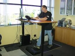 For Health Freaks There Is Now A Treadmill Desk Check It Out Right