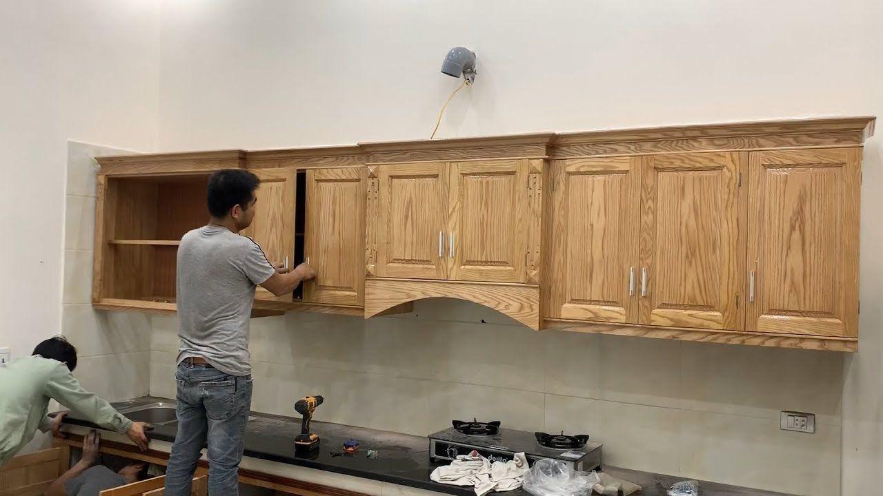 Excellent Woodworking Skills Extremely Smart Carpenter Build A Modern Modern Kitchen Cabinets Modern Kitchen Kitchen Cabinets