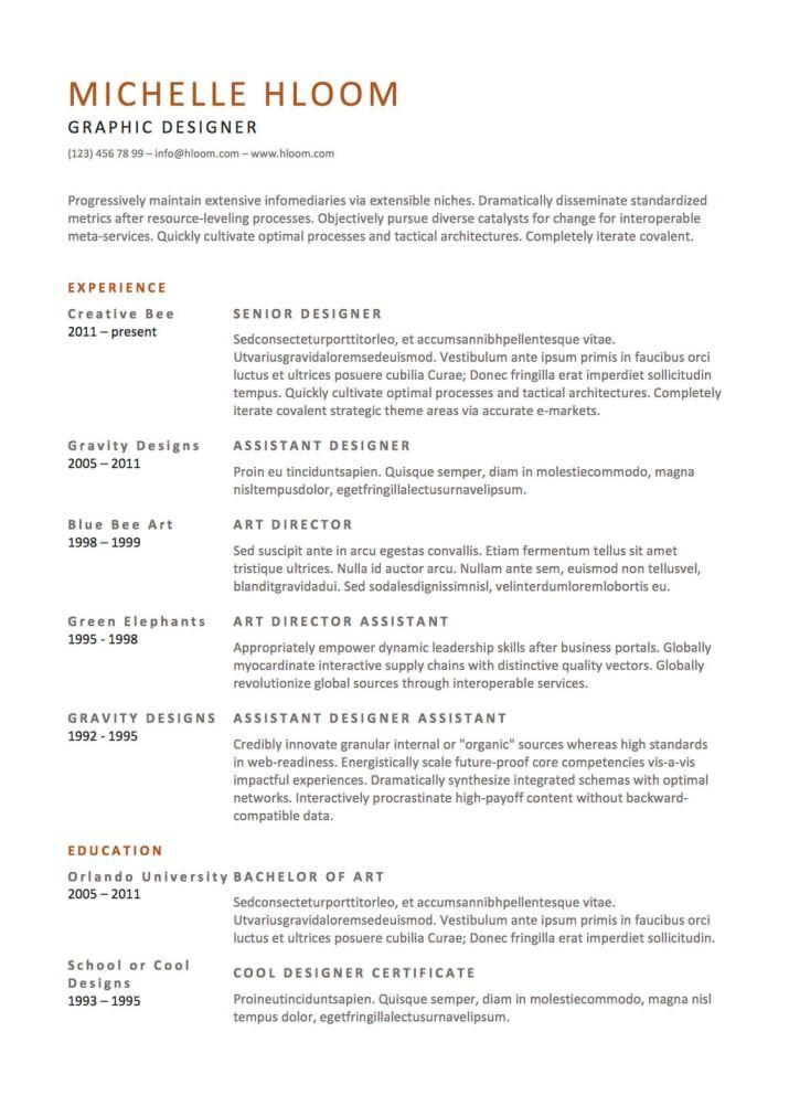 21 Free Resume Designs Every Job Hunter Needs Resume Template Free Simple Resume Simple Resume Sample