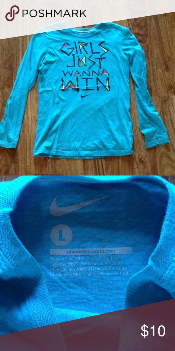 156c393214 Nike Long Sleeve Shirt Nike Long Sleeve Shirt Girls Size Large Good ...