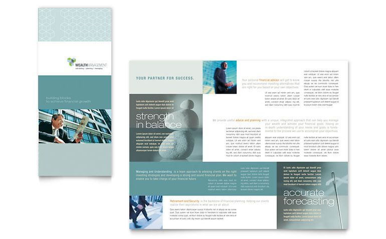 trifold inspiration - Triptico Pinterest - brochure template on word