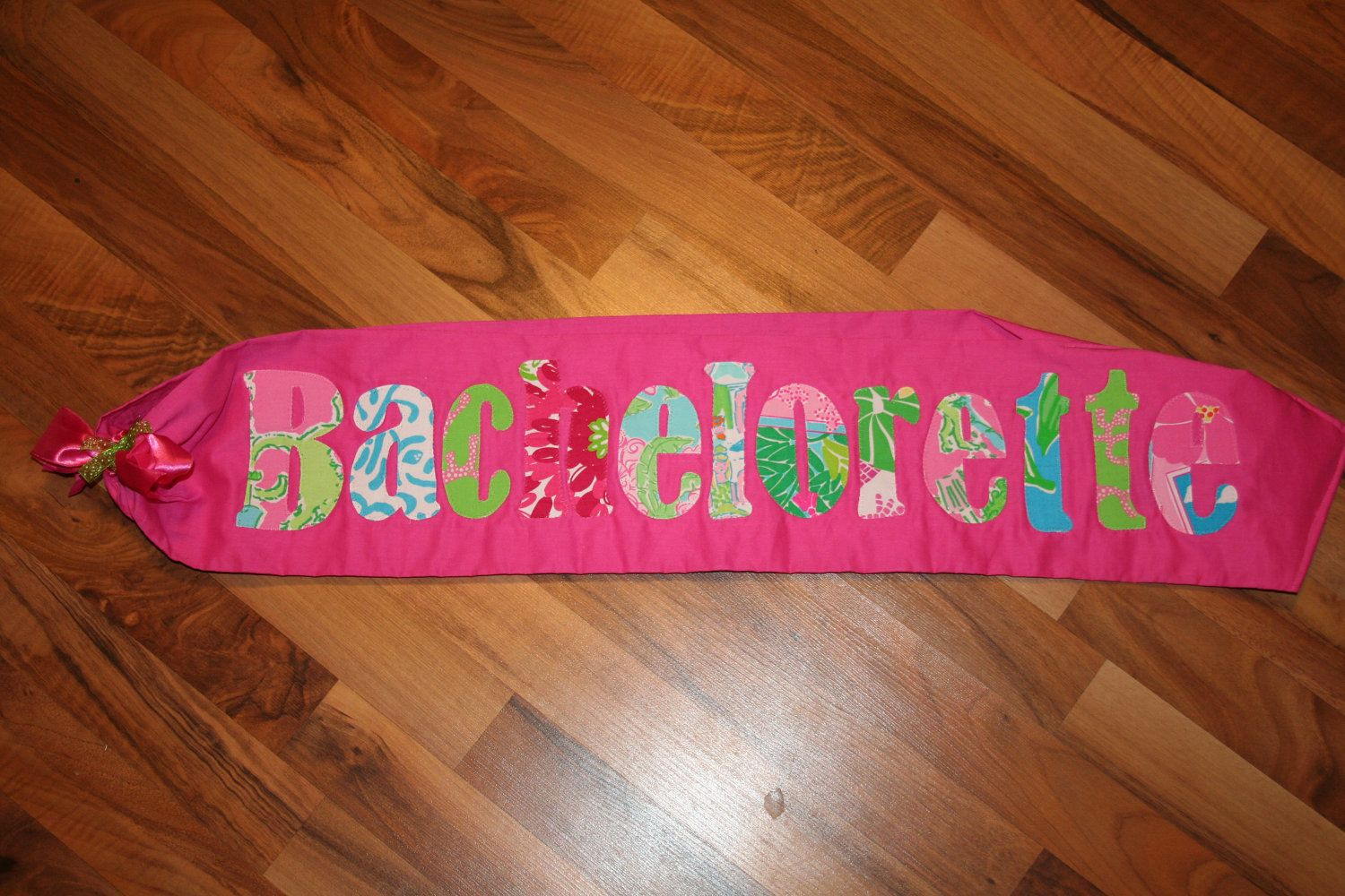 Bachelorette Party Sash made with Lilly Pulitzer Fabric - umm every ...