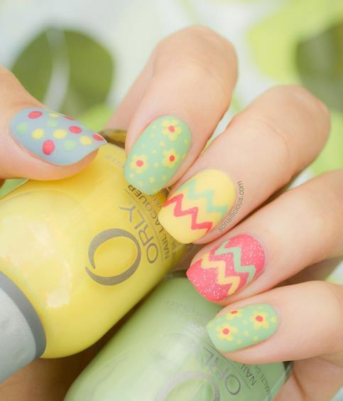 http://www.miascollection.com | 15 The Cutest Easter Nail Art - Be Modish spring nail design  spring nail art