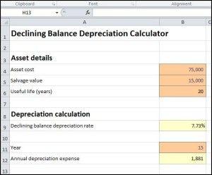 Declining Balance Depreciation Calculator Accounting Calculator