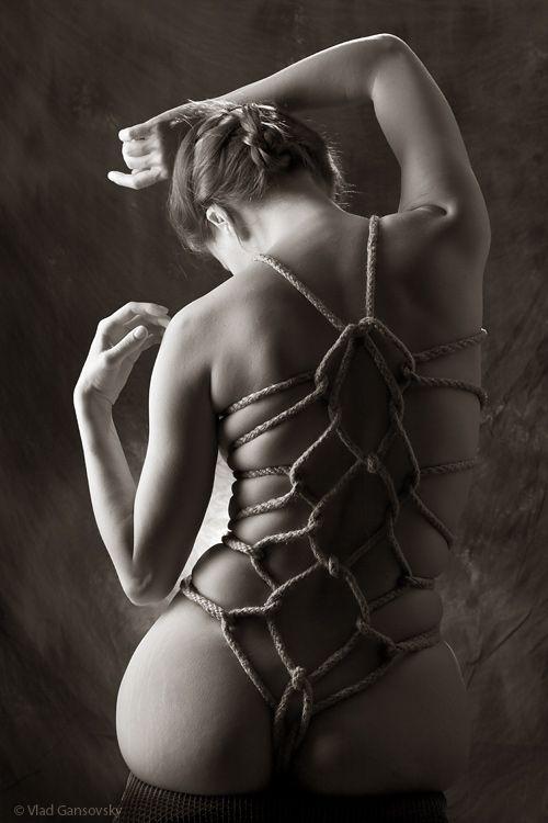 Artistic bondage photography