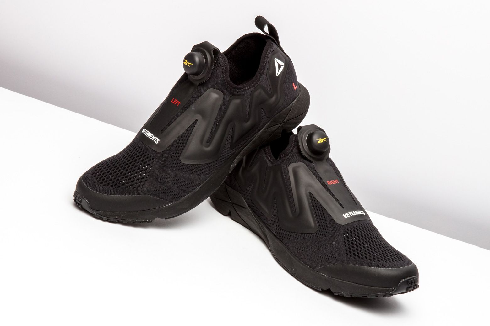 buy online 831d1 cd7e5 Peep this murdered-out version of the Vetements x Reebok Pump Supreme. http