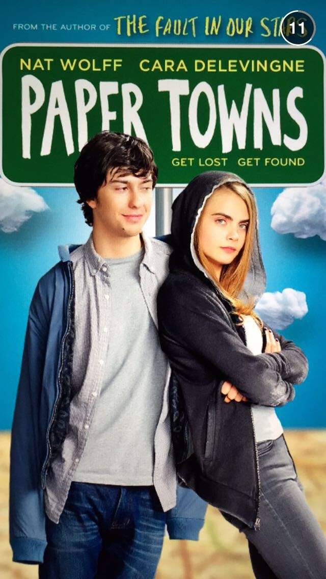 Paper Towns movie poster! - Dutch Book Chick
