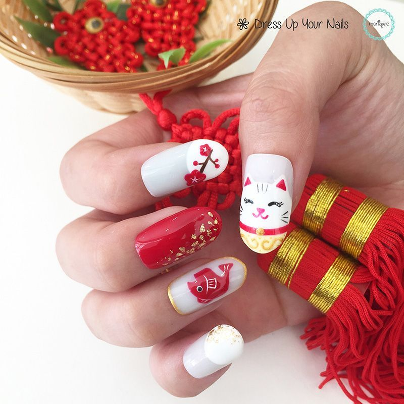 Chinese new year Nails Chinese New Year Nails CNY