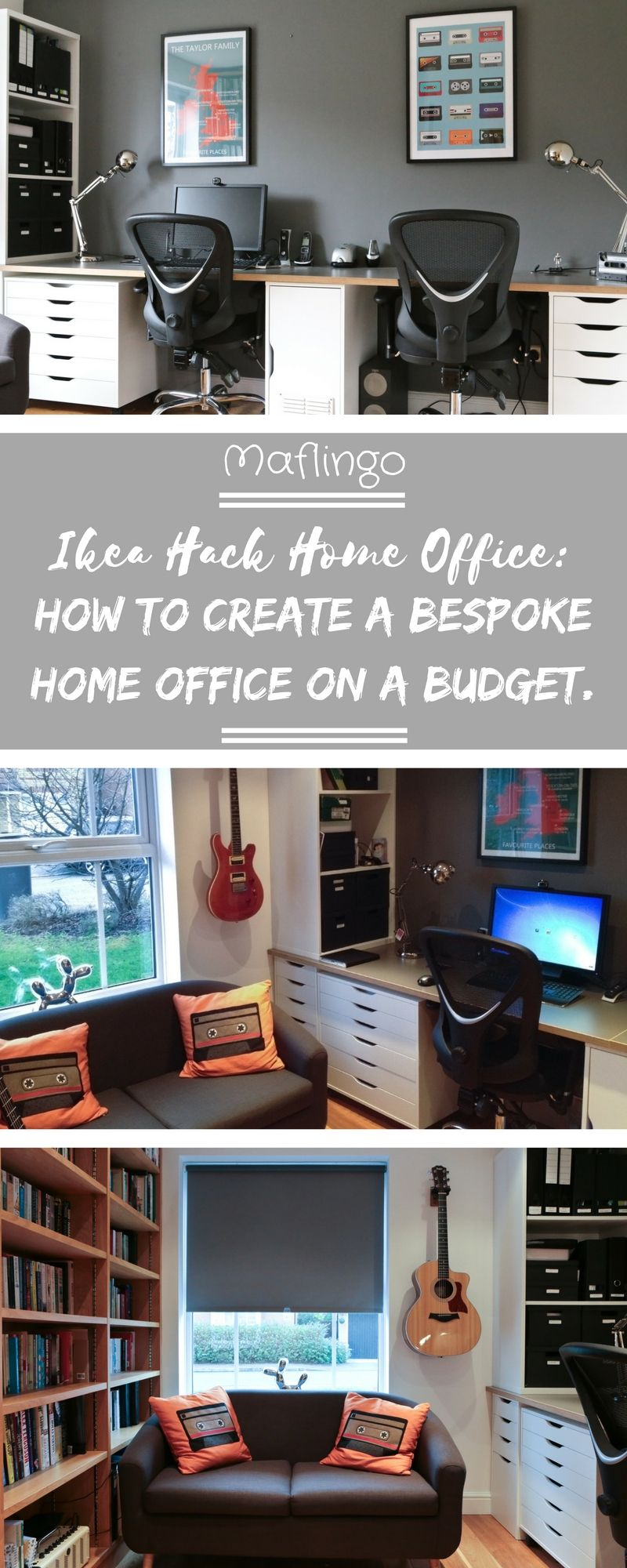ikea hack home office study how to create a home office on a budget home pinterest. Black Bedroom Furniture Sets. Home Design Ideas