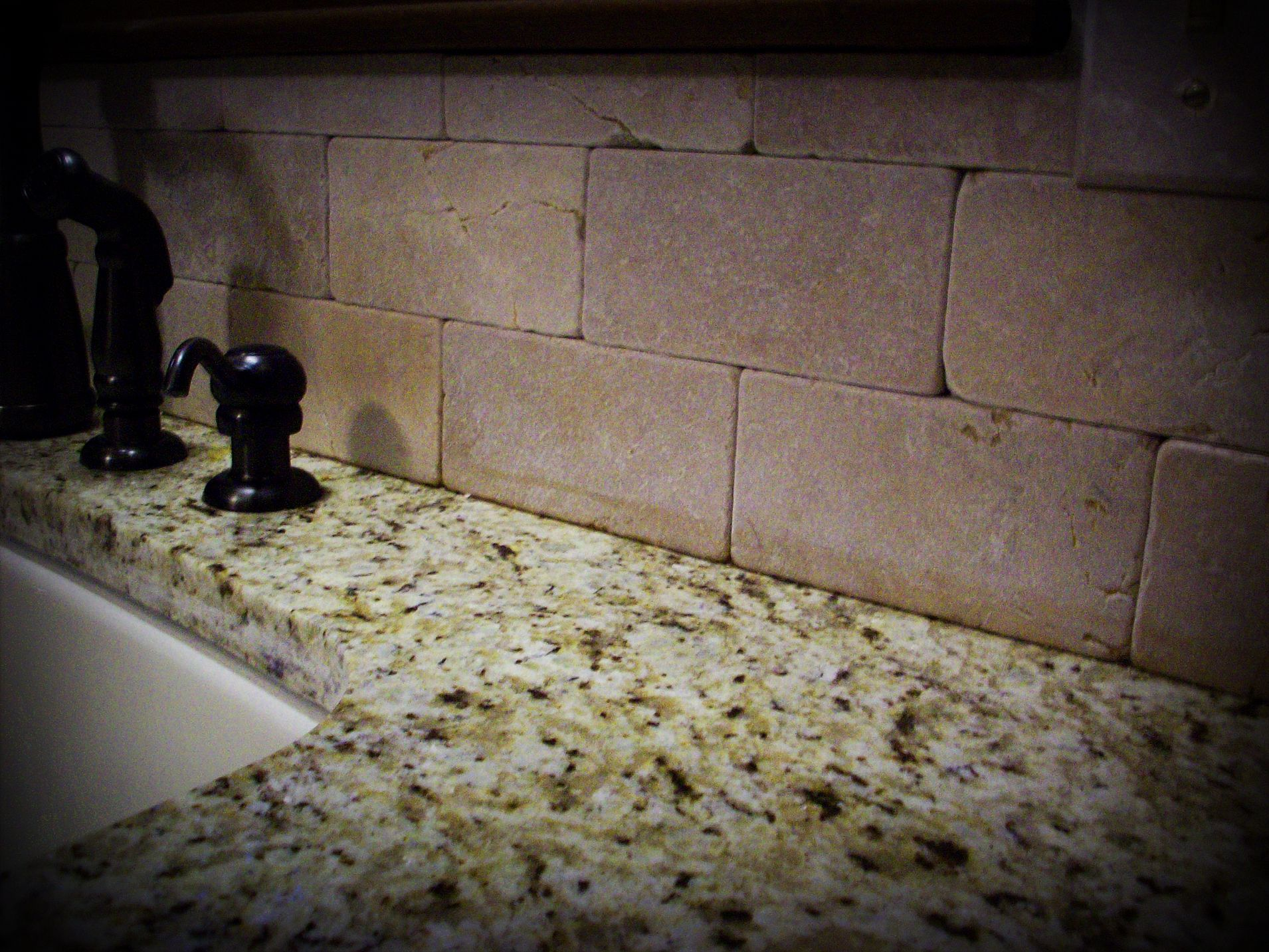 - Backsplash...no Grout Lines Things To Sell, New Kitchen, Granite