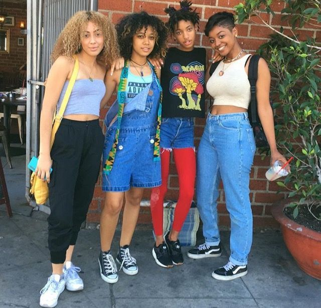 90s Black Fashion Girl: Willow Smith And Friends With The Fresh 90s Look