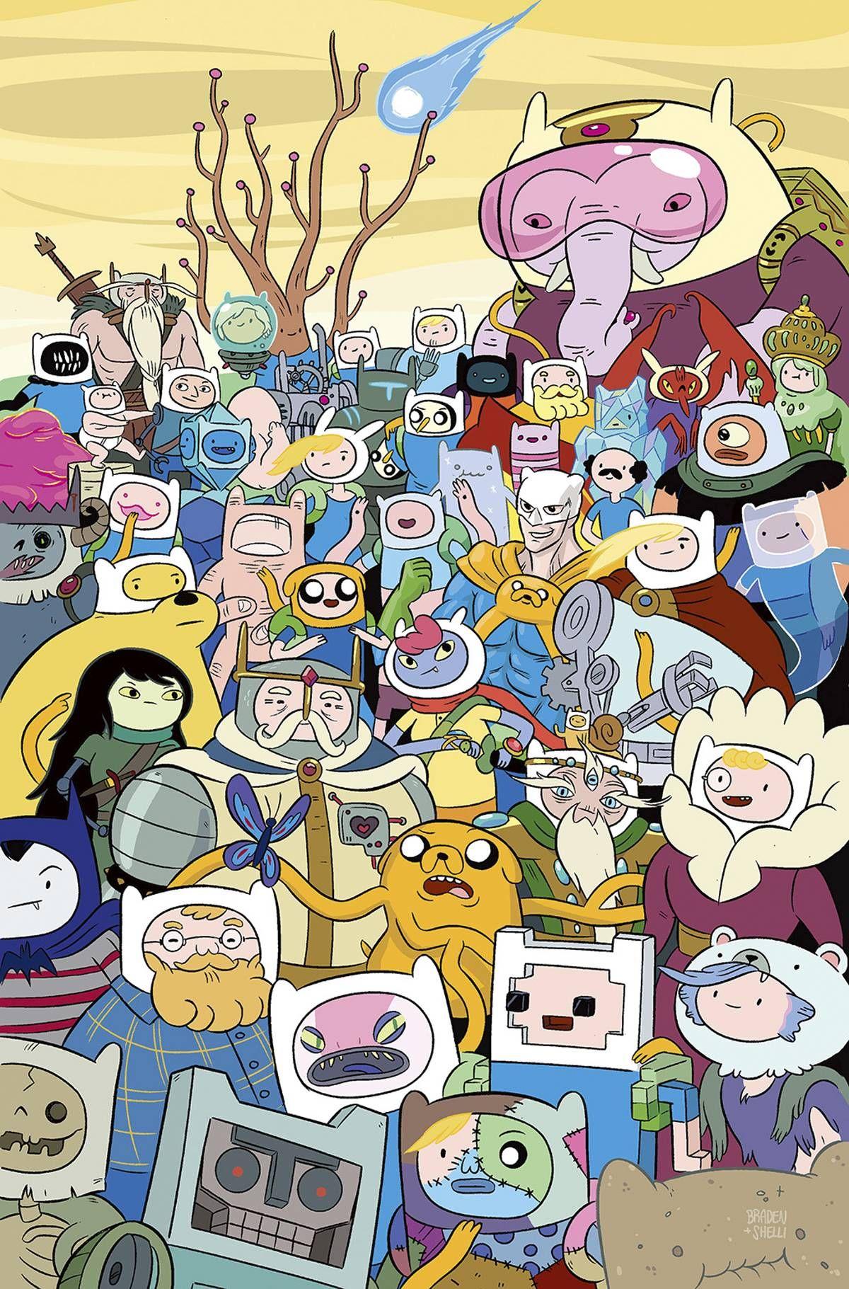 Adventure Time Todos con el gorro de Finn 02dbe730246