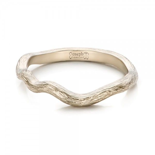102068 This Elegant Women S Wedding Band Features A Delicate Organic Design Contoured To Sit Flush