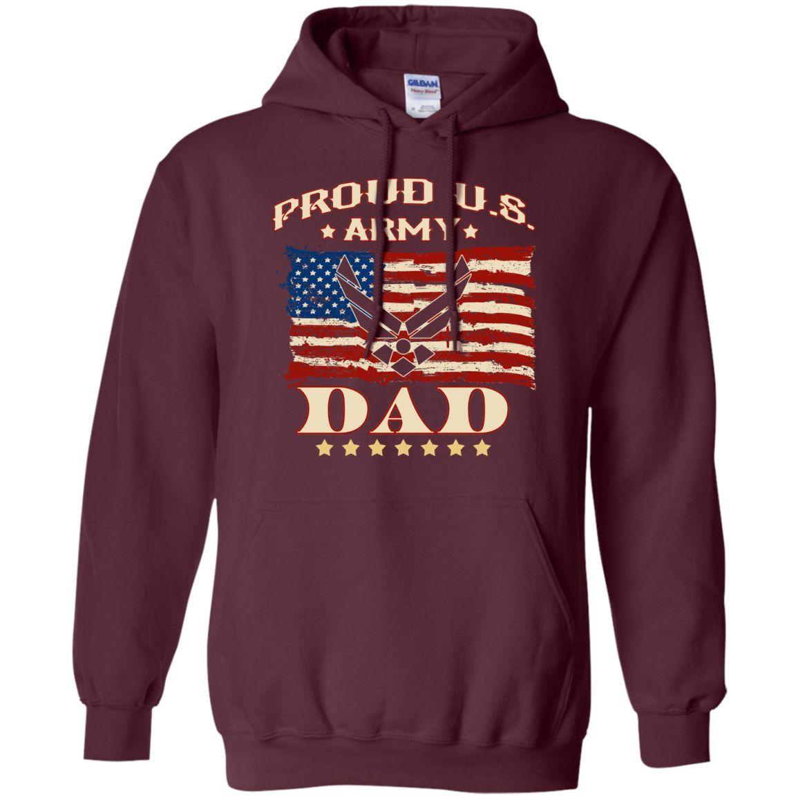 Proud U.S. Army Dad Pullover Hoodie 8 oz