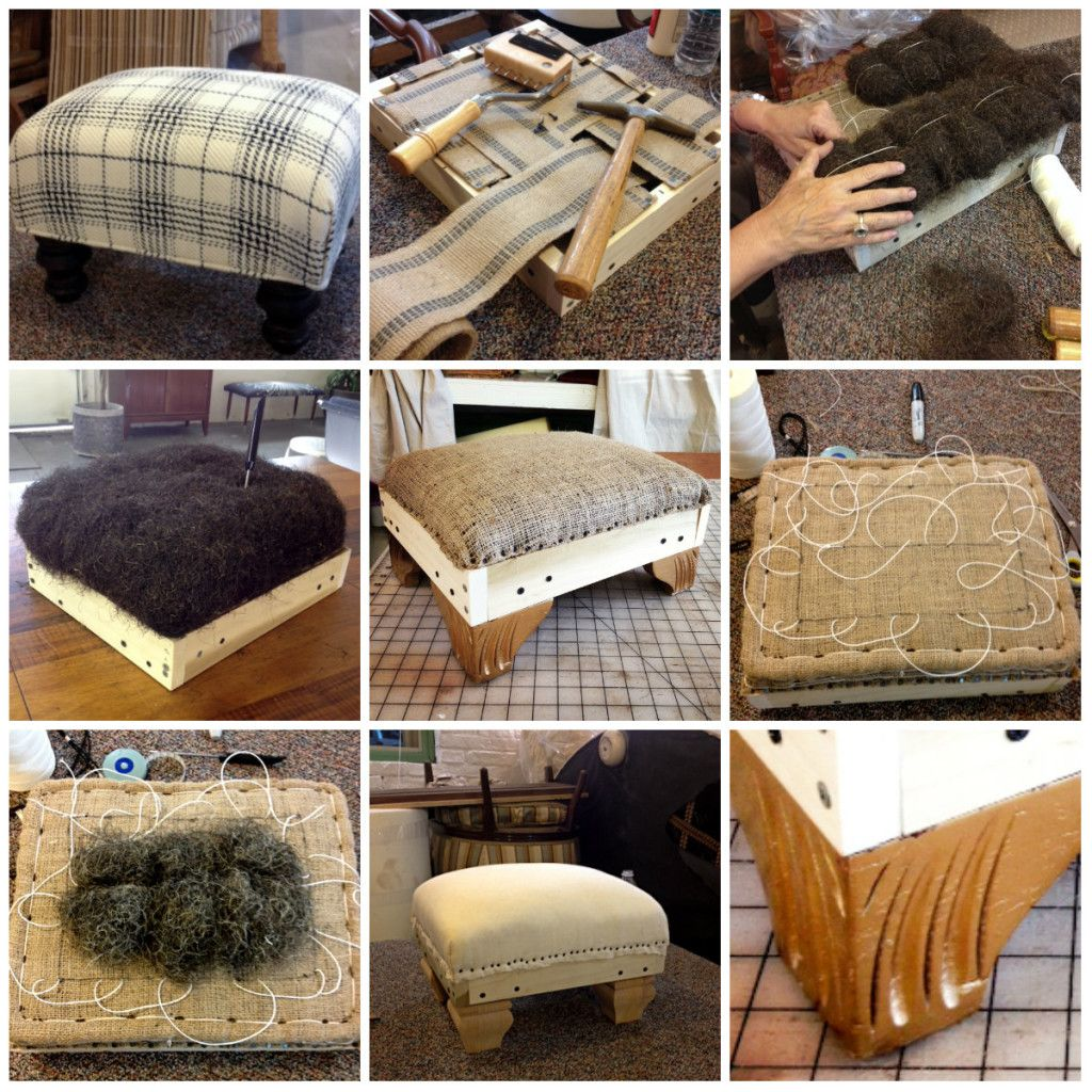 Traditional Upholstery--The process is the product here. And what a ...
