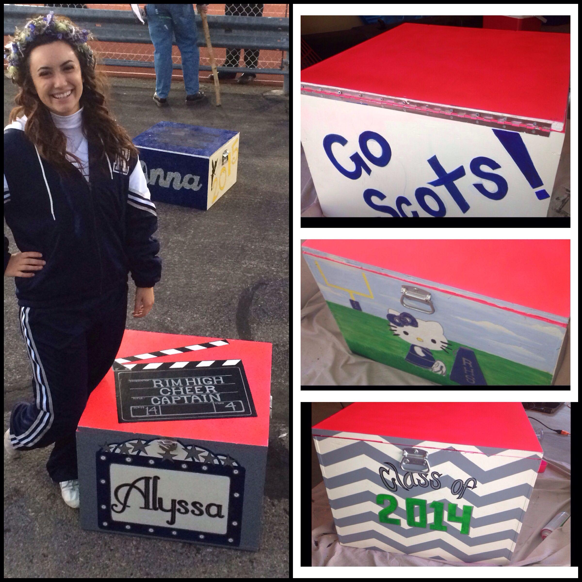 Cheer box high school cheerleader box painting ideas