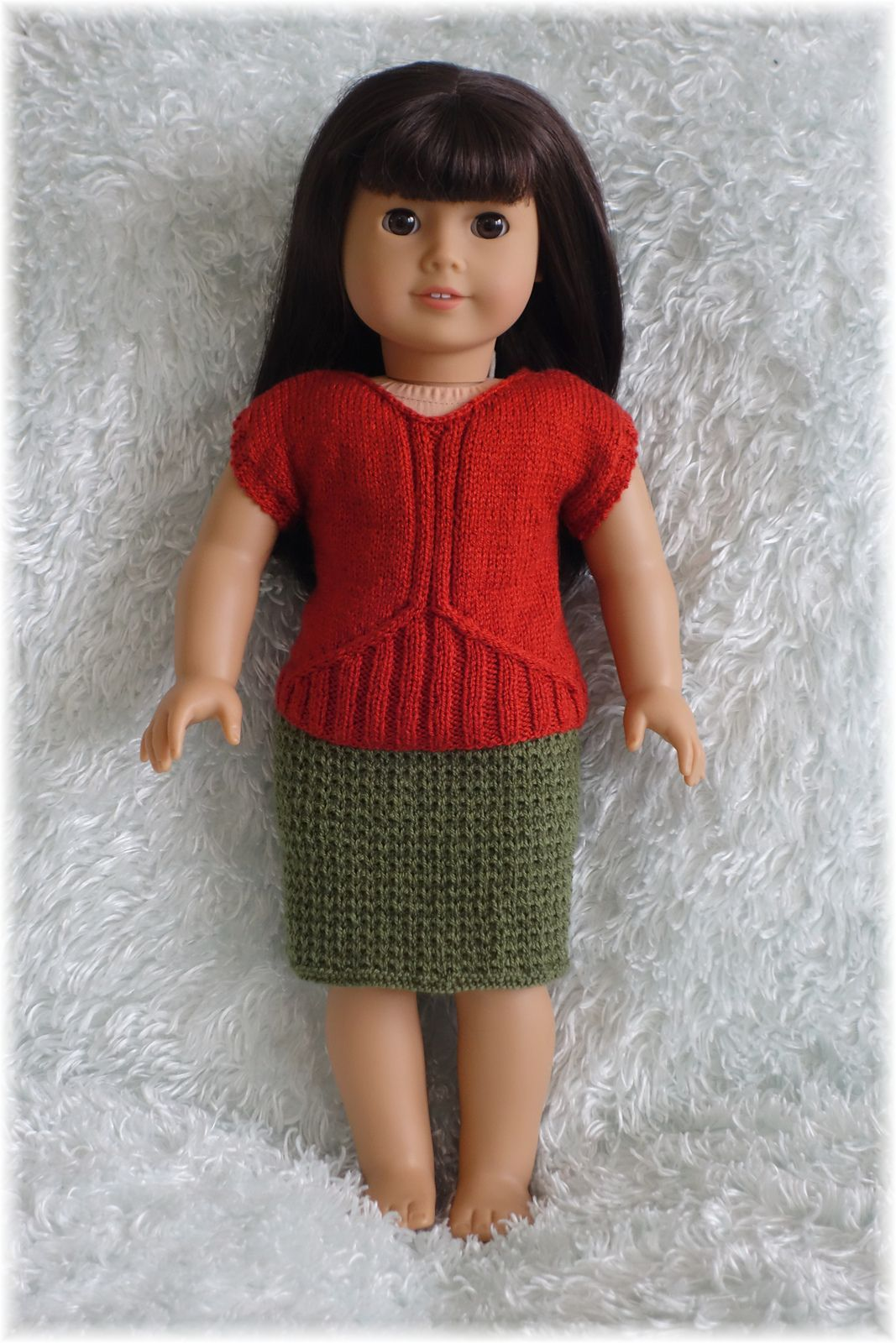 American Girl - Ribbed Springtime Top and Skirt pattern by Linda ...
